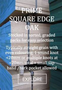 prime oak square edge