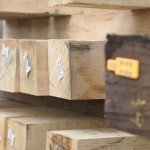 fresn sawn oak tagged beam structural timber stock